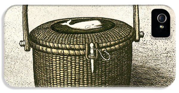 Etching iPhone 5s Case - Nantucket Basket by Charles Harden