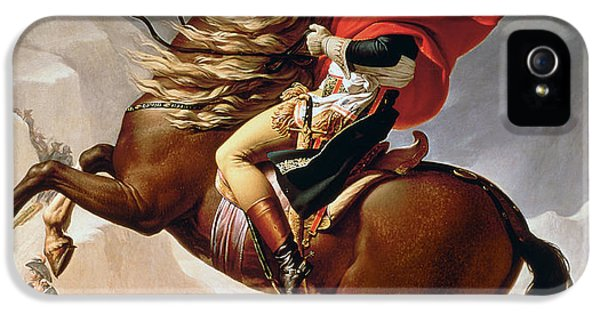 Horse iPhone 5s Case - Napoleon Crossing The Alps by Jacques Louis David