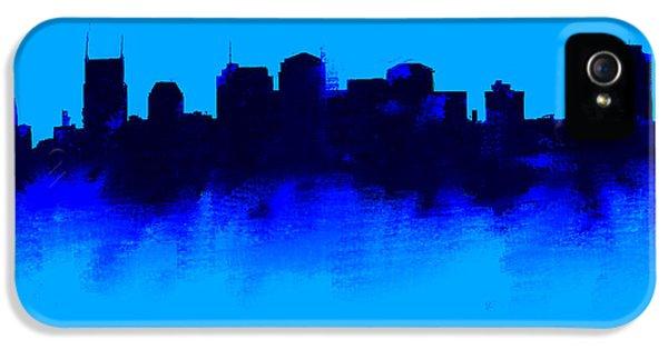 Nashville  Skyline Blue  IPhone 5s Case by Enki Art