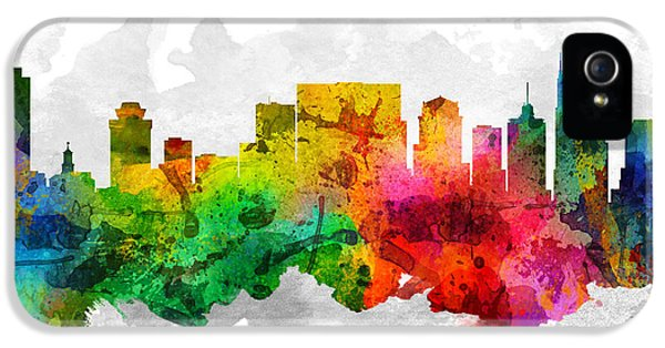 Nashville Tennessee Cityscape 12 IPhone 5s Case by Aged Pixel