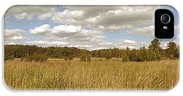 Sunny iPhone 5s Case - Natural Meadow Landscape Panorama. by Arletta Cwalina