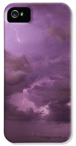 Nebraskasc iPhone 5s Case - Nebraska Night Thunderstorm Beast 001 by NebraskaSC