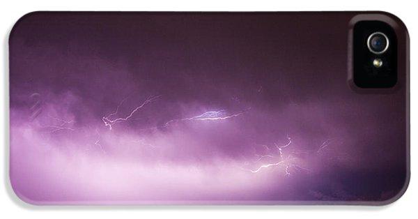 Nebraskasc iPhone 5s Case - Nebraska Night Thunderstorms 013 by NebraskaSC
