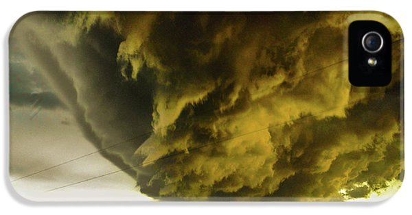 Nebraskasc iPhone 5s Case - Nebraska Supercell, Arcus, Shelf Cloud, Remastered 018 by NebraskaSC