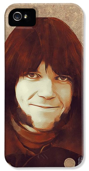 Neil Young iPhone 5s Case - Neil Young, Music Legend by Mary Bassett