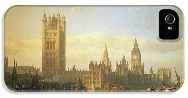 New Palace Of Westminster From The River Thames IPhone 5s Case by David Roberts