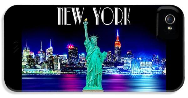 New York Shines IPhone 5s Case by Az Jackson