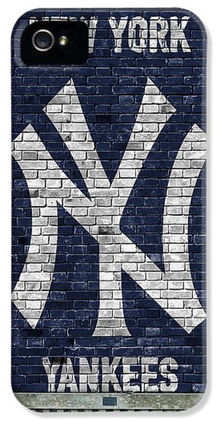 Professional Baseball Teams iPhone 5s Case - New York Yankees Brick Wall by Joe Hamilton