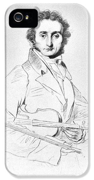 Violin iPhone 5s Case - Nicolo Paganini (1782-1840) by Granger