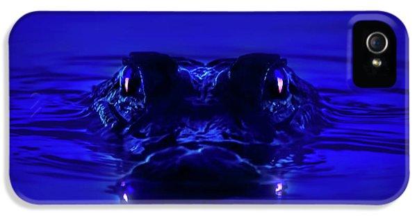 Alligator iPhone 5s Case - Night Watcher by Mark Andrew Thomas