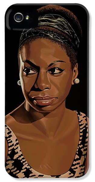 Nina Simone Painting 2 IPhone 5s Case by Paul Meijering