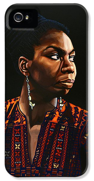 Rhythm And Blues iPhone 5s Case - Nina Simone Painting by Paul Meijering