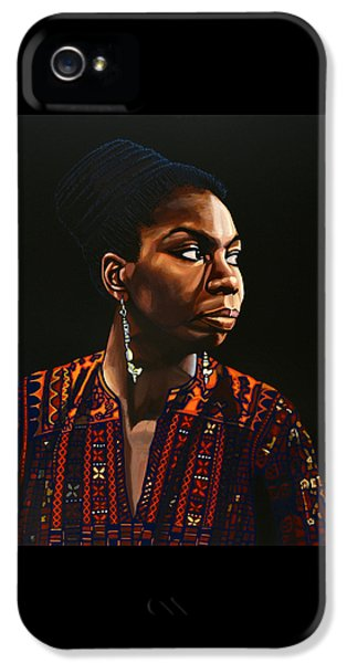 Nina Simone Painting IPhone 5s Case by Paul Meijering