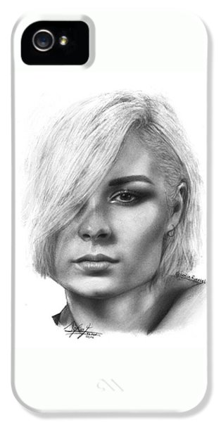 iPhone 5s Case - Nina Nesbitt Drawing By Sofia Furniel by Jul V