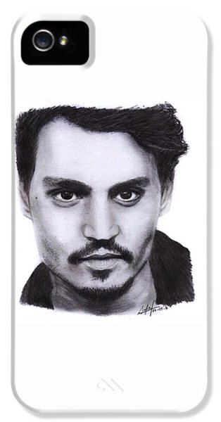 iPhone 5s Case - Johnny Depp Drawing By Sofia Furniel by Jul V