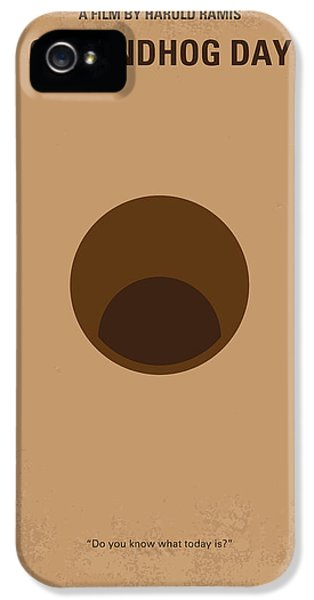 No031 My Groundhog Minimal Movie Poster IPhone 5s Case by Chungkong Art