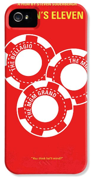 Time iPhone 5s Case - No056 My Oceans 11 Minimal Movie Poster by Chungkong Art