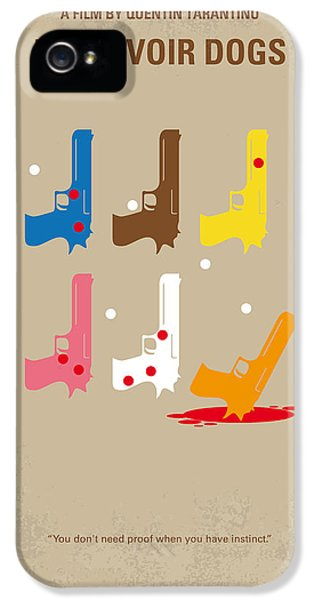 Hollywood iPhone 5s Case - No069 My Reservoir Dogs Minimal Movie Poster by Chungkong Art