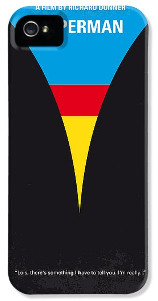 Planets iPhone 5s Case - No086 My Superman Minimal Movie Poster by Chungkong Art