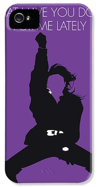 Rhythm And Blues iPhone 5s Case - No091 My Janet Jackson Minimal Music Poster by Chungkong Art