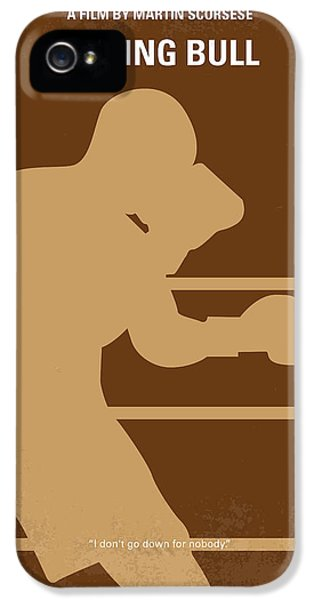 Bull iPhone 5s Case - No174 My Raging Bull Minimal Movie Poster by Chungkong Art