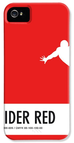 Spider iPhone 5s Case - No24 My Minimal Color Code Poster Spiderman by Chungkong Art