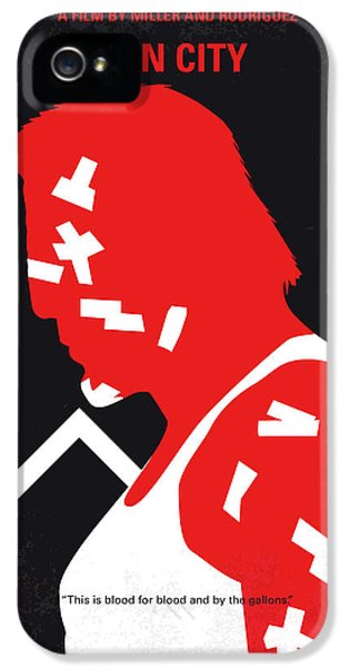 Jessica Alba iPhone 5s Case - No304-1 My Sin City Minimal Movie Poster by Chungkong Art