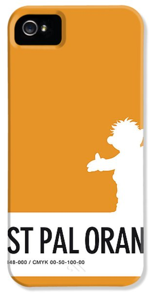 Frogs iPhone 5s Case - No32 My Minimal Color Code Poster Ernie by Chungkong Art