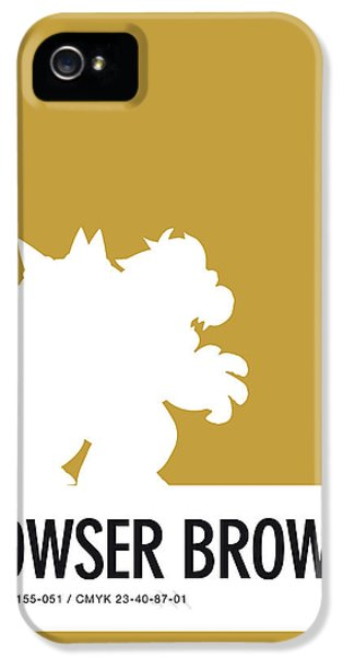 Daisy iPhone 5s Case - No38 My Minimal Color Code Poster Bowser by Chungkong Art