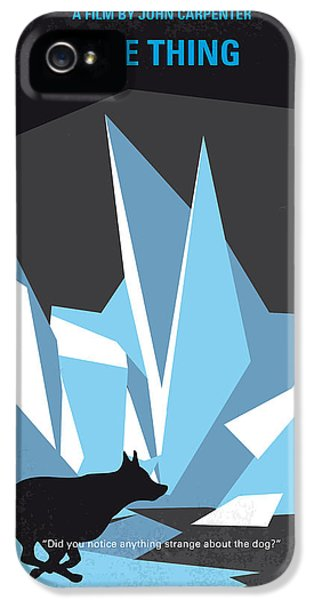 Helicopter iPhone 5s Case - No466 My The Thing Minimal Movie Poster by Chungkong Art