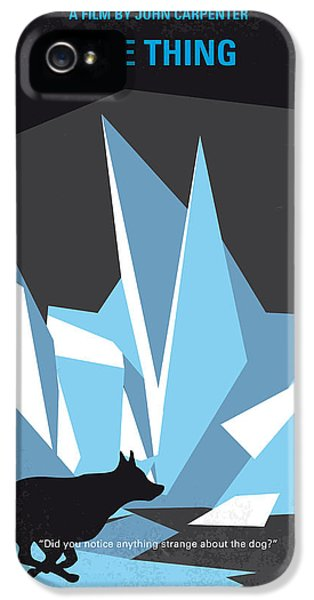 No466 My The Thing Minimal Movie Poster IPhone 5s Case by Chungkong Art