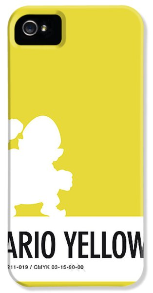 Daisy iPhone 5s Case - No43 My Minimal Color Code Poster Wario by Chungkong Art