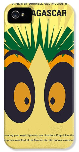 Penguin iPhone 5s Case - No589 My Madagascar Minimal Movie Poster by Chungkong Art