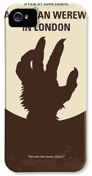 Wolves iPhone 5s Case - No593 My American Werewolf In London Minimal Movie Poster by Chungkong Art
