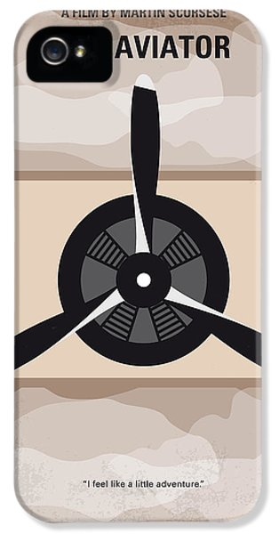 Airplane iPhone 5s Case - No618 My The Aviator Minimal Movie Poster by Chungkong Art