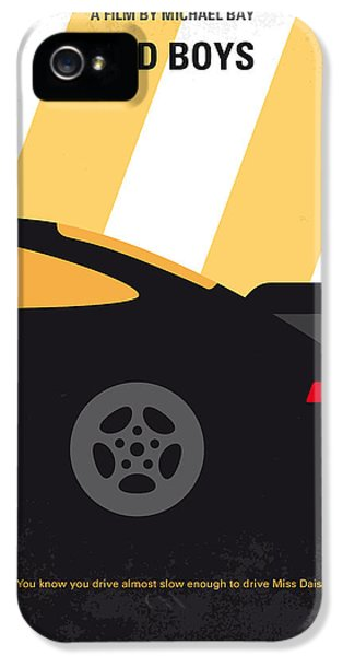 No627 My Bad Boys Minimal Movie Poster IPhone 5s Case by Chungkong Art