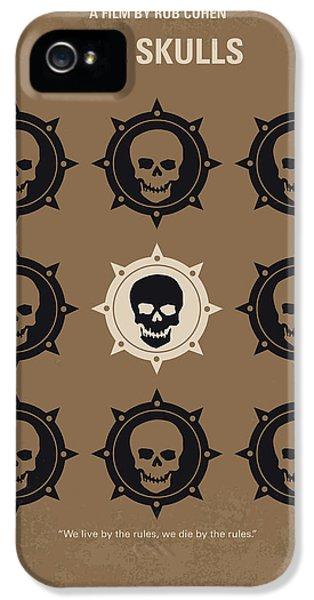 Harvard iPhone 5s Case - No662 My The Skulls Minimal Movie Poster by Chungkong Art
