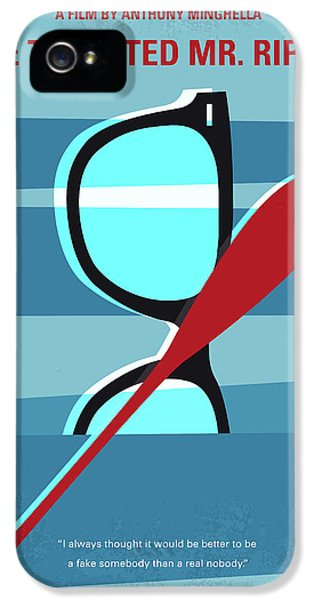 1950s iPhone 5s Case - No694 My The Talented Mr Ripley Minimal Movie Poster by Chungkong Art