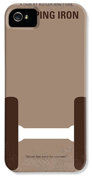 Venice Beach iPhone 5s Case - No707 My Pumping Iron Minimal Movie Poster by Chungkong Art