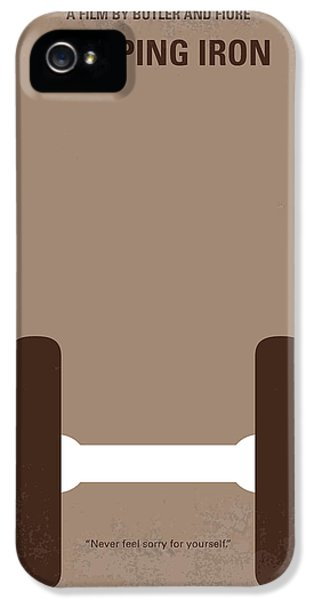 No707 My Pumping Iron Minimal Movie Poster IPhone 5s Case by Chungkong Art