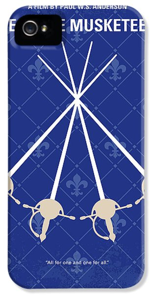 Cardinal iPhone 5s Case - No724 My The Three Musketeers Minimal Movie Poster by Chungkong Art