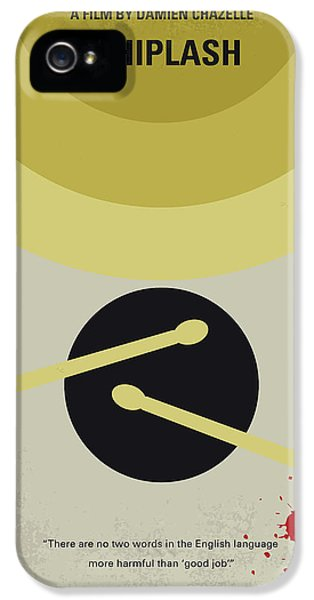 Drum iPhone 5s Case - No761 My Whiplash Minimal Movie Poster by Chungkong Art