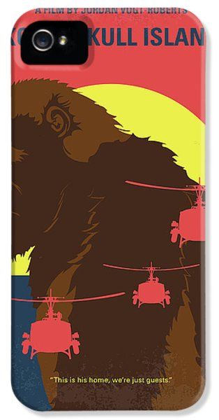 Helicopter iPhone 5s Case - No799 My Skull Island Minimal Movie Poster by Chungkong Art