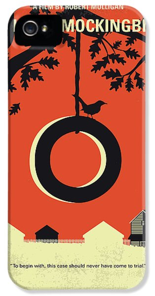 Mockingbird iPhone 5s Case - No844 My To Kill A Mockingbird Minimal Movie Poster by Chungkong Art