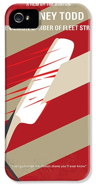 Johnny Depp iPhone 5s Case - No849 My Sweeney Todd Minimal Movie Poster by Chungkong Art