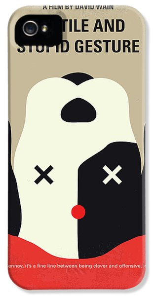 Harvard iPhone 5s Case - No893 My A Futile And Stupid Gesture Minimal Movie Poster by Chungkong Art