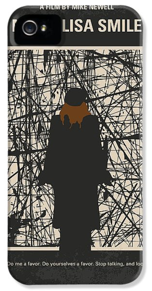 1950s iPhone 5s Case - No914 My Mona Lisa Smile Minimal Movie Poster by Chungkong Art