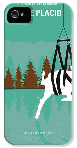 Crocodile iPhone 5s Case - No944 My Lake Placid Minimal Movie Poster by Chungkong Art