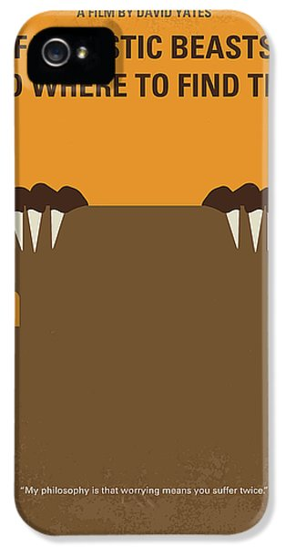 Newts iPhone 5s Case - No962 My Fantastic Beasts And Where To Find Them Minimal Movie Poster by Chungkong Art