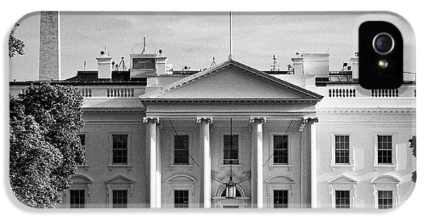 north facade from pennsylvania avenue the white house with washington monument in the background Was IPhone 5s Case by Joe Fox